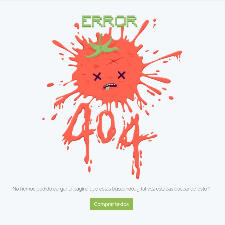 error 404 tomatext