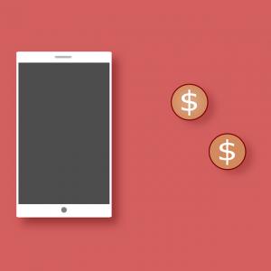 Un telefono con dinero