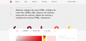 códigos de colores